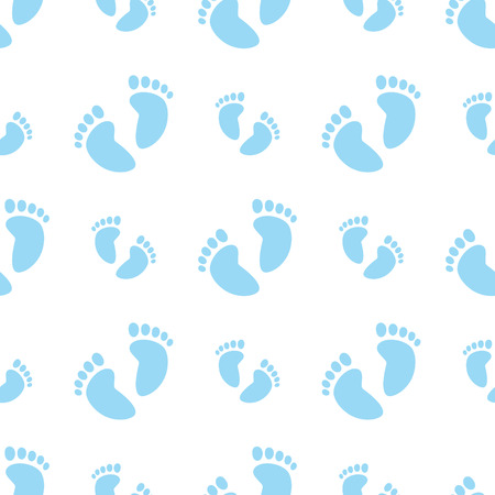 repetitive: Seamless Blue Feet