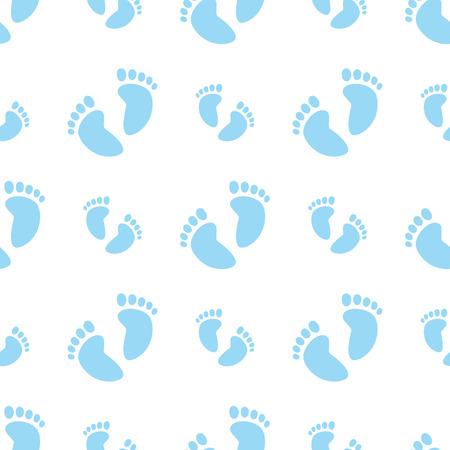 Seamless Blue Feet