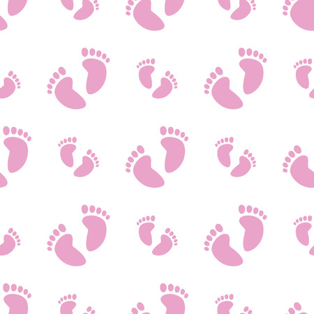 repetitive: Seamless Pink Feet Illustration