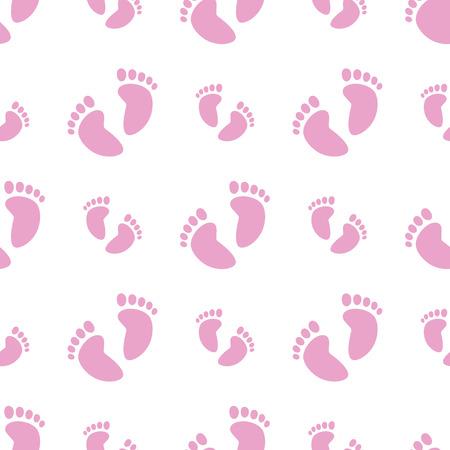 Seamless Pink Feet Ilustração