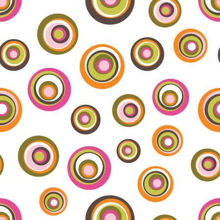 Seamless Circle Background Ilustração