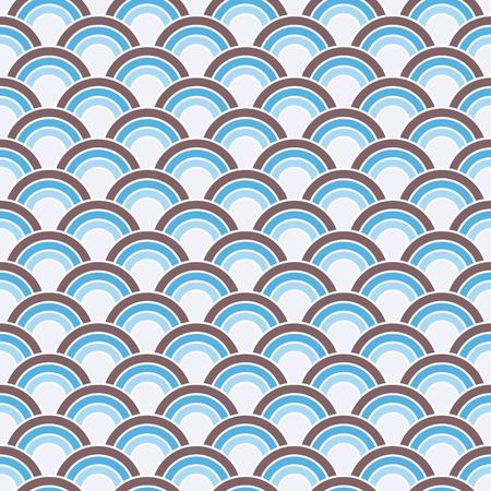 Seamless Retro Circles Background