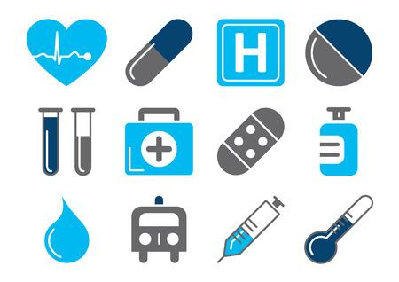 elektrokardiogramm: Medizinische Icons