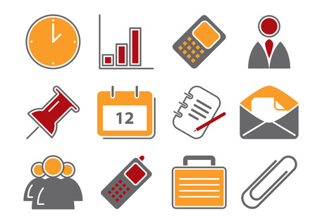 Business Icons Stock Vector - 5972872