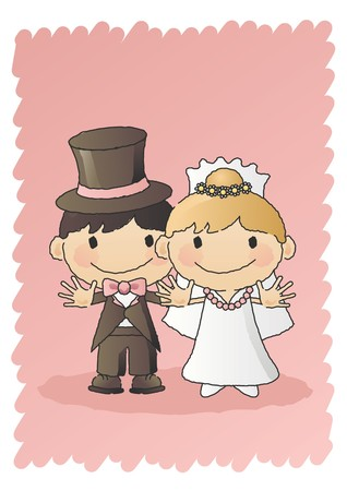 Bride and Groom  Stock Vector - 7697119