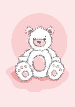 Sketched Teddy Bear Illusztráció