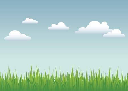 cloud sky: Grass