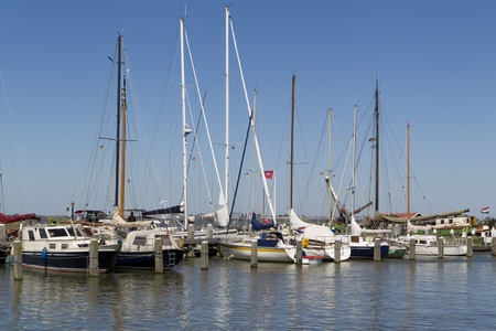 marken: Sailboats in the small harbor of Marken, the Netherlands