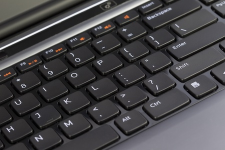 data entry: Keyboard of a Laptop