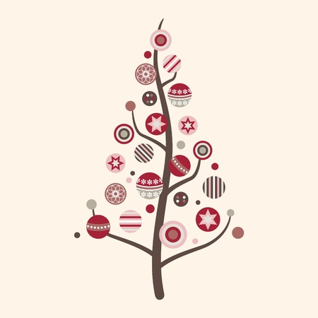 Abstract Christmas Tree Vector in Modern Colors