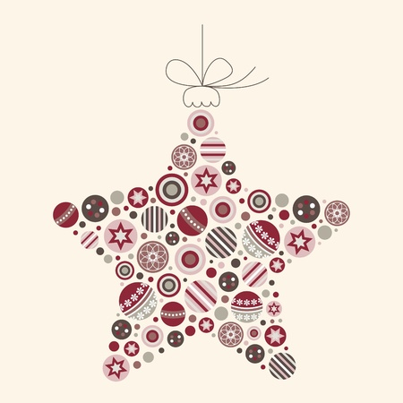 Abstract Christmas Star Vector in Modern Colors Vector