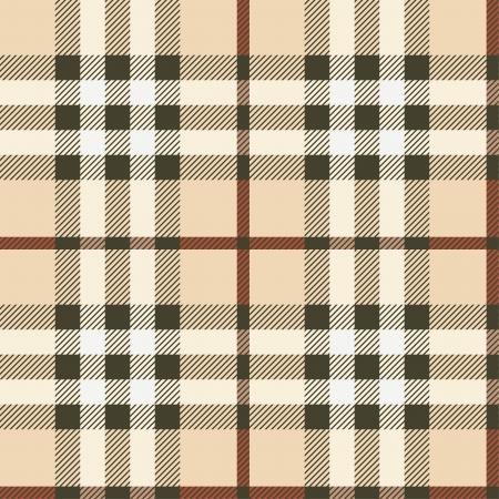 Seamless plaid fabric background.  Can be tiled horizontally and vertically. Ilustração