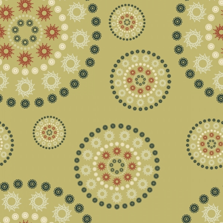 seamless background illustration with retro circles (green). Can be tiled horizontally and vertically.