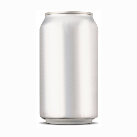 blank soda can with white background  photo