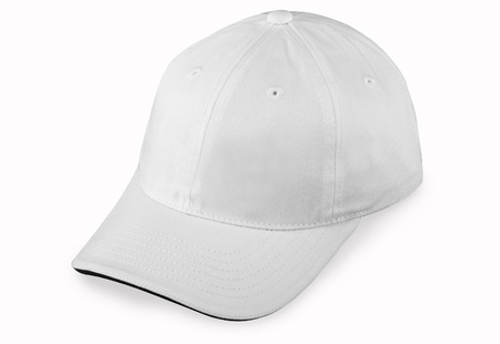 baseball caps: White cap Stock Photo