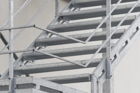Fire Stairwell on the side of a building photo