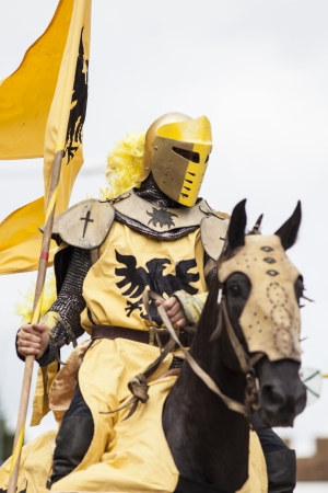 jousting: knights jousting Stock Photo