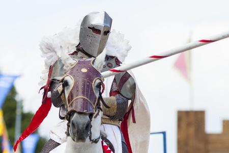joust: knights jousting Stock Photo