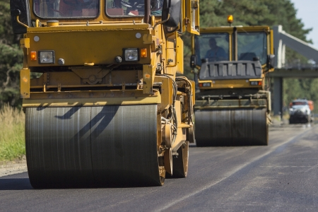 Construction and repair of highway photo