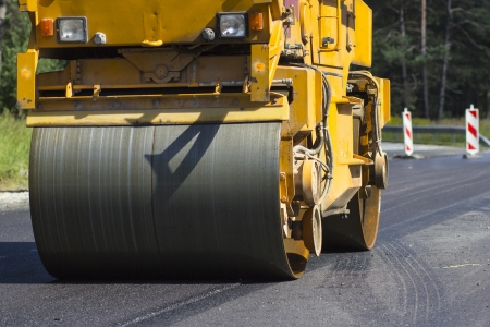 Construction and repair of highway Stock Photo