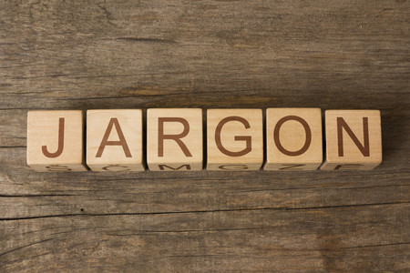 terminology: the word JARGON on a wooden blocks Stock Photo