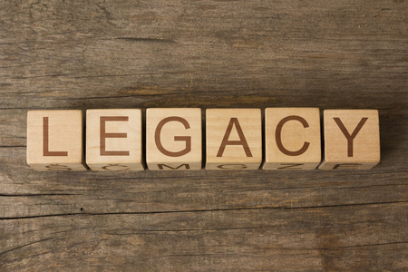 legacy: LEGACY word on wooden cubes
