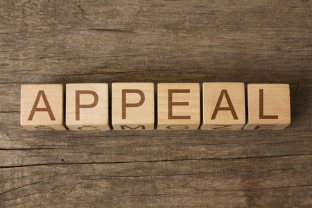 appeal: APPEAL word on wooden blocks