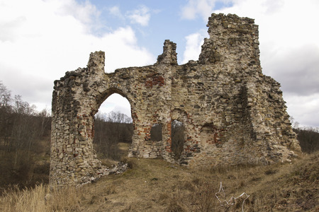 archaeological: Ruins of Aizkraukle castle, Latvia
