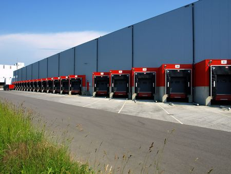 red loading dock Stock Photo - 3149377