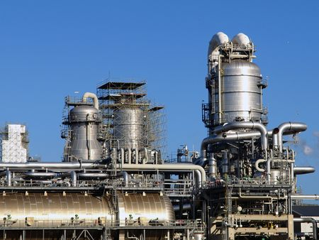 catalytic: detail refinery plant