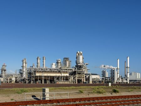 powerstation: Refinery plant   Stock Photo