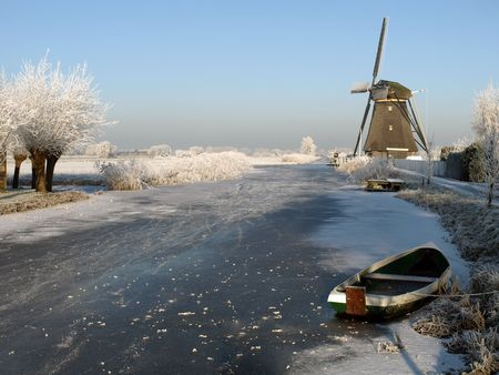 dutch winter landscape     photo