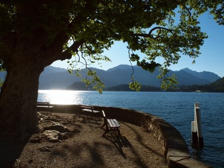 lake como: Morning glory of lake Como, Italy