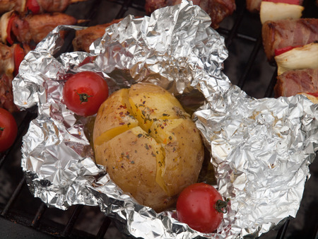 jacked: Jacked potato with garlic butter parsley and bacon
