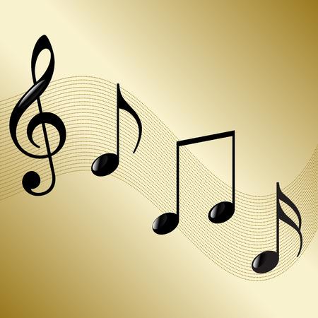 semiquaver: music notes background