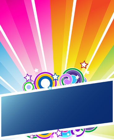 Sunburst vector banner Illustration