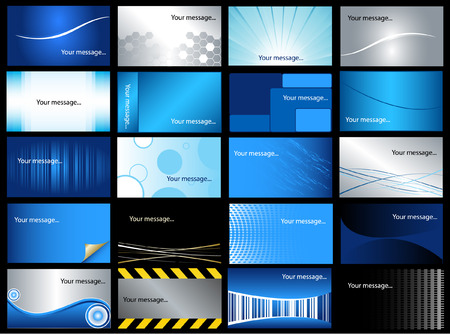 business cards templates:  Set of 20 business cards  Illustration