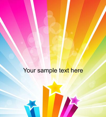 3d rainbow: Vector banner