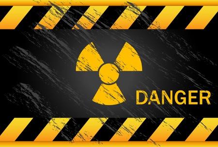 Arrière-plan de Danger nucléaire  Vecteurs