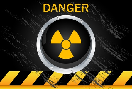 atomic symbol: Nuclear Danger Background