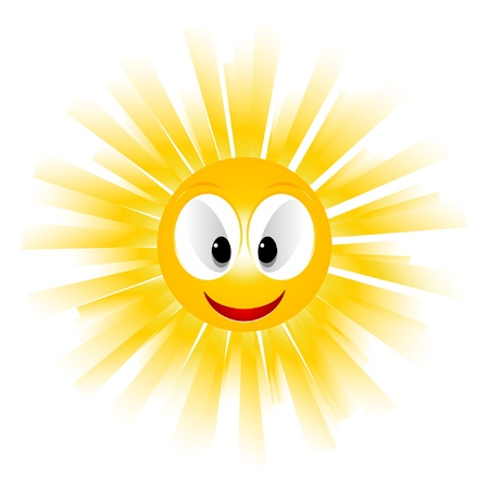 Smiling sun icon  Vector