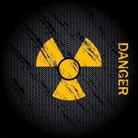 hazardous waste: Sfondo di pericolo nucleare