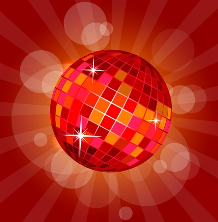 Illustration of abstract disco ball