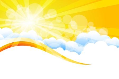 방사상: 벡터 햇살 일러스트
