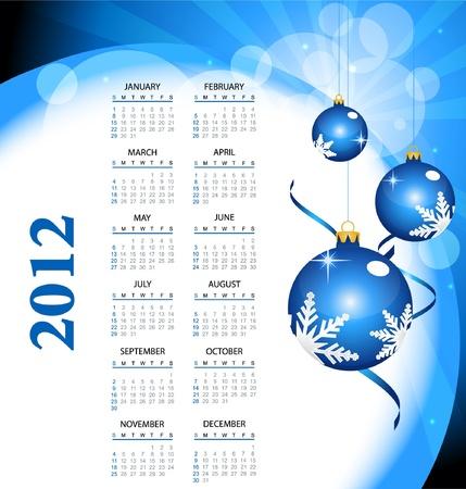 2012 calendar  Illustration