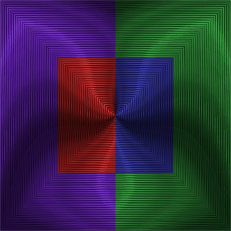 Four-colour square Stock Photo
