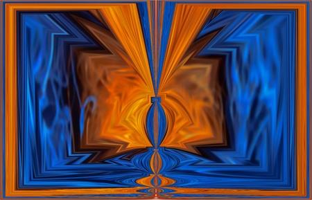 tableau: orange-blue fantasy