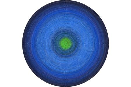 Blue disc Stock Photo
