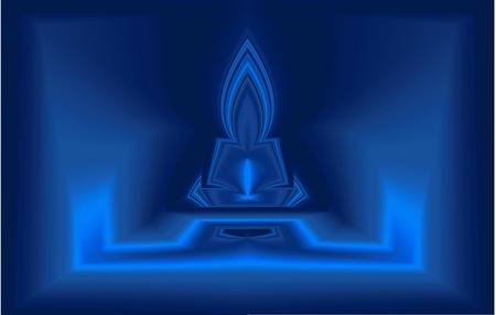 Blue Buddha Stock Photo - 12901746