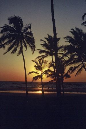Sunset Goa Stock Photo